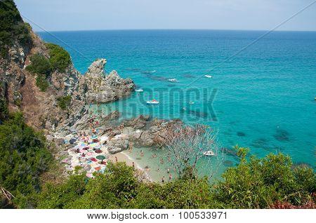 Zambrone a small town near the sea in Calabria