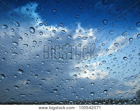 Raindrops In Blue