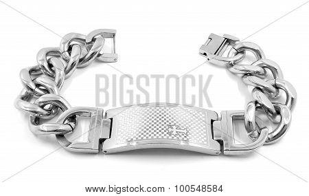 Men's massive bracelet, surgical stainless steel