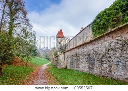 Near the Rothenburg Watchman's Tower, South Bavaria, Germany
