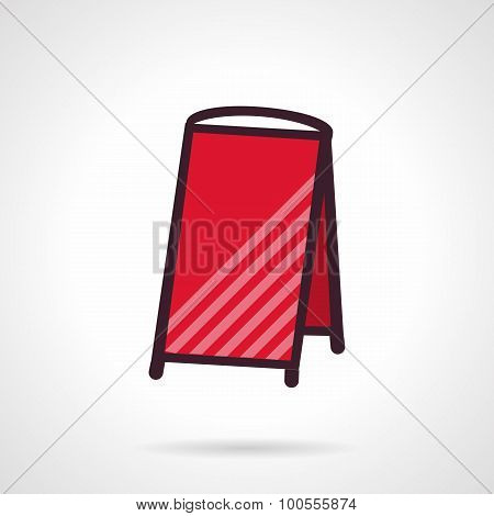 Red empty sandwich signboard vector icon