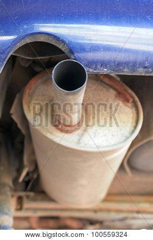 Rusty old exhaust pipe