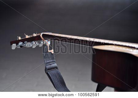 Guitar Agaist Dark Background