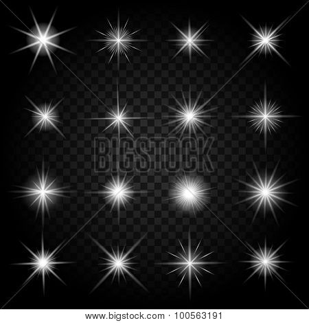 Stars bursts with sparkles and glowing light effects