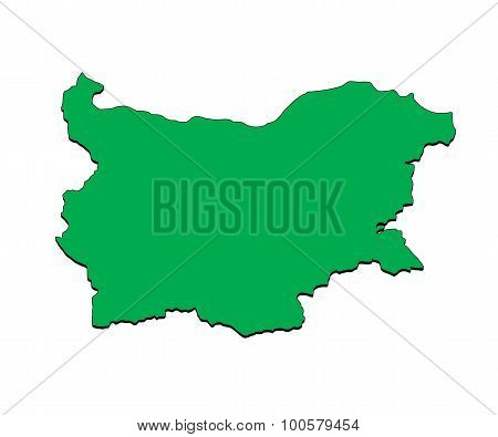 Vector Map of the Country of Bulgaria