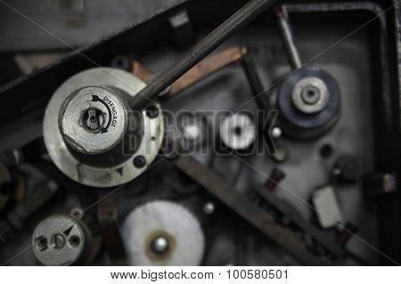 Control Knob On A Machine
