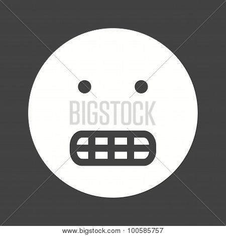 Grinning, teeth, smile icon vector image. Can also be used for emotions and halloween. Suitable for mobile apps, web apps and print media. poster