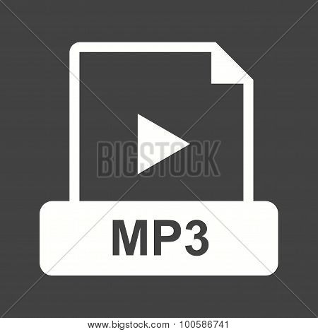 MP3, player, ipod icon vector image. Can also be used for file format, design and storage. Suitable for mobile apps, web apps and print media. poster
