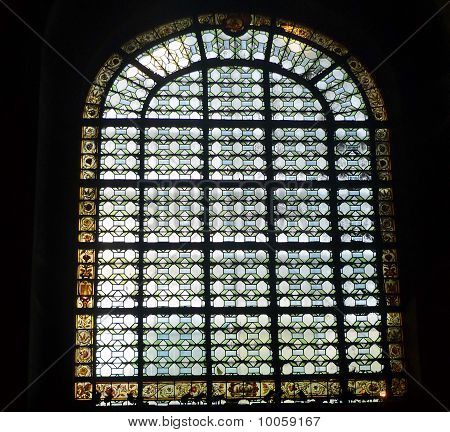 Stained Glass Window Church In Paris.