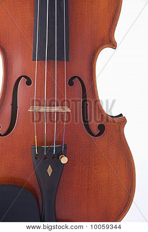 Antique Violin Viola Isolated On White