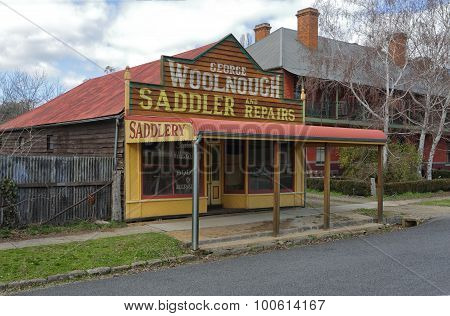 Architectural Heritage Rustic Saddlery Shop