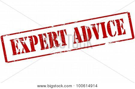 Rubber stamp with text expert advice inside vector illustration poster
