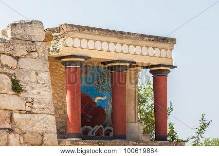 Knossos Palace At Crete, Greece