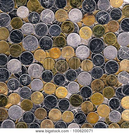Coins Of Kuwait Background