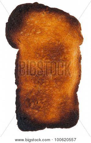 Burnt toast bread slice
