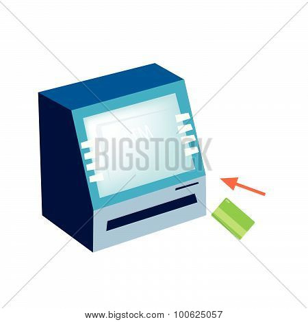 Atm Or Automated Teller Machine On White Background
