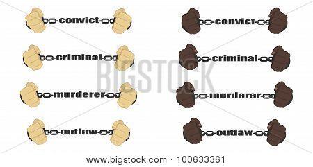 Convict,criminal,murderer, Outlaw Signs