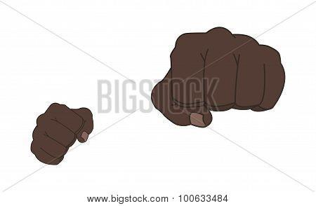 Black Man Punching