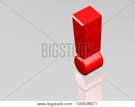 Single Red Exclamation Mark, Answer Or Order Concept