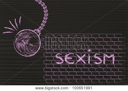 Wrecking Ball Against Sexism