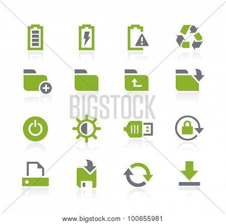 Energy and Storage Icons // Natura Series