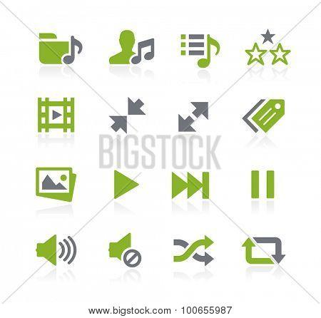 Media Player Icons // Natura Series