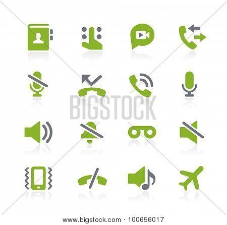 Phone Call Interface Icons // Natura Series