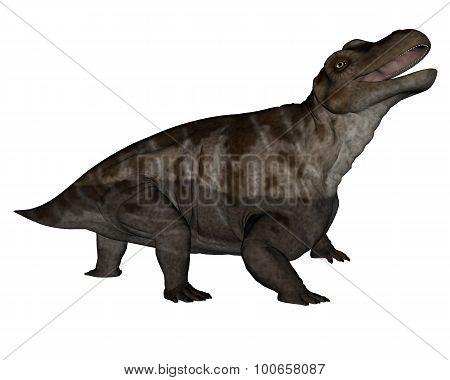 Keratocephalus dinosaur roaring - 3D render