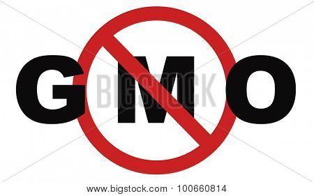 no gmo stop genetic manipulated organisms or food engineering poster