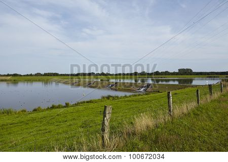 Alfhausen (germany) - Dam Of The Alfsee (alf Lake)