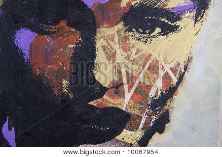 original oil painting on textured cotton canvas poster