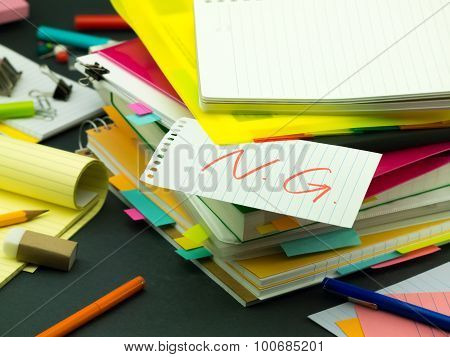 The Pile Of Business Documents; Ng