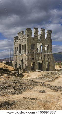 Centum Cellas Tower, A Roman Ruin Near Belmonte, Portugal
