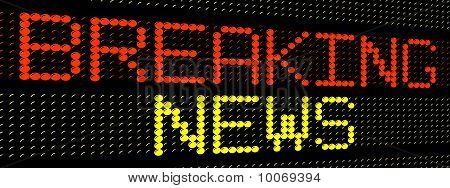 breaking news electronic sign