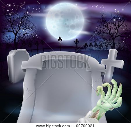 Grave Halloween Background