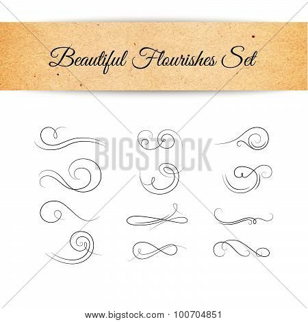 Vector Decorative Flourishes Set