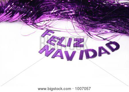 Feliz Navidad In Purple