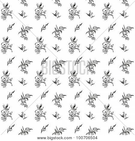 Black and White Floral Texture
