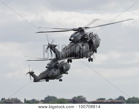 Military Helicopter Pair