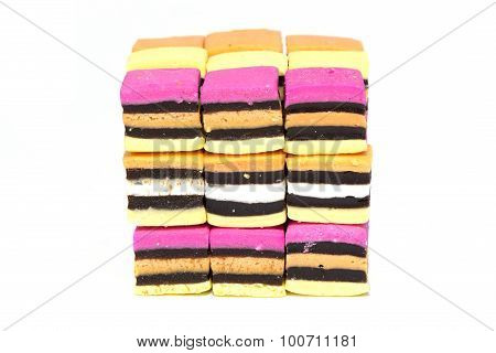 Licorice Allsorts Cube