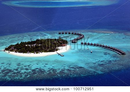 an arial photograph of the maldives - asia