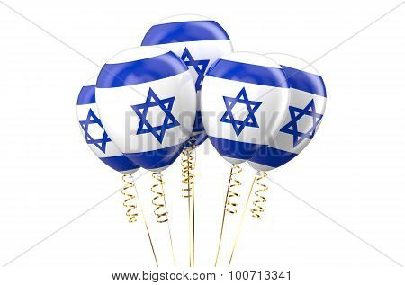 Israel Patriotic Balloons, Holyday Concept