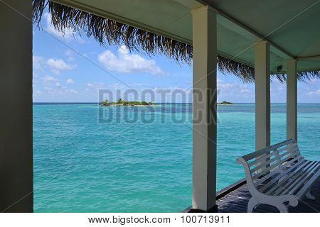 a sunny day on the maldives - asia
