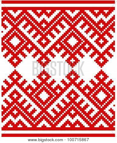 Slovenian Traditional Pattern Ornament. Background. Belarusian Pattern