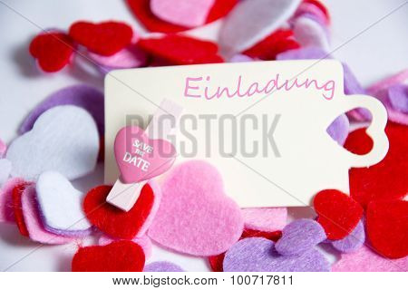Einladung - the german words for invitation
