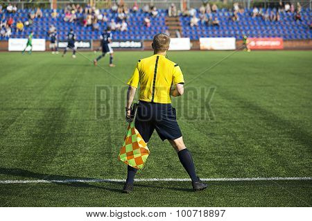 Assistant Referee With  Flag