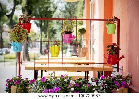 Beautiful Idea For Flower Pots In Garden