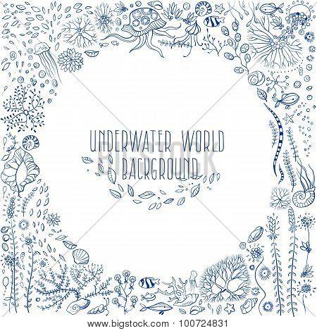 Hand Drawn Underwater World Background