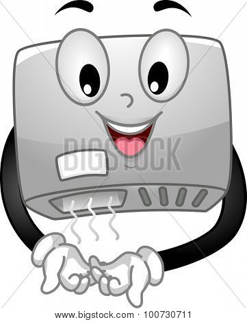 Mascot Illustration of a Hand Dryer Drying its Hands