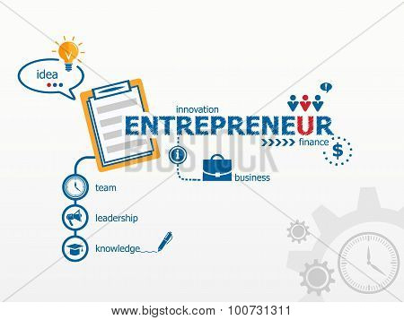 Entrepreneur Concept And Notebook For Efficiency